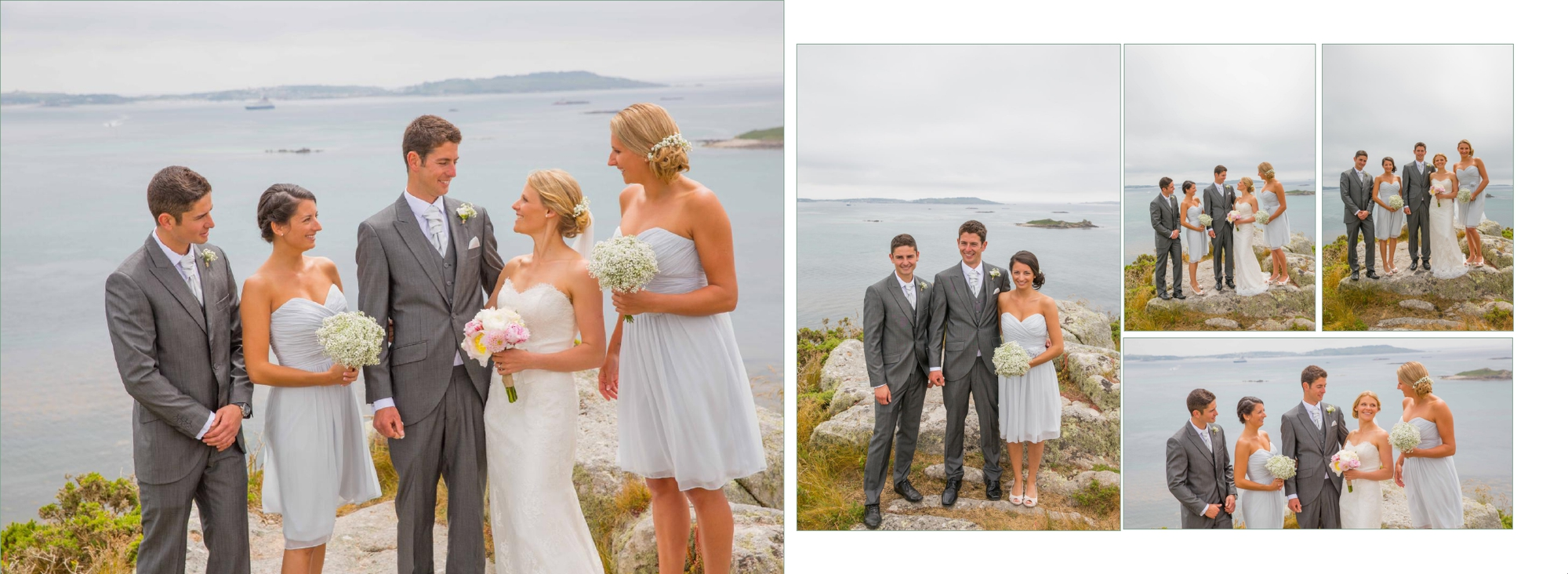 Bridal party wedding photography isles of scillys