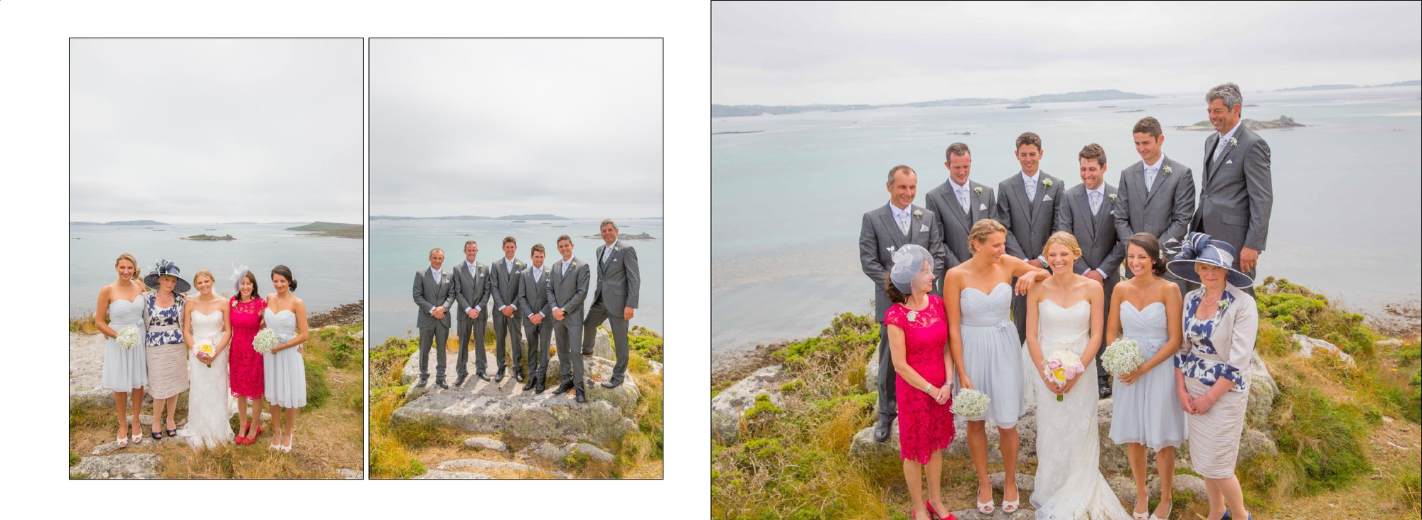 Isles of scillys group wedding photographs
